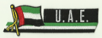 United Arab Emirates Embroidered Flag Patch, style 01.